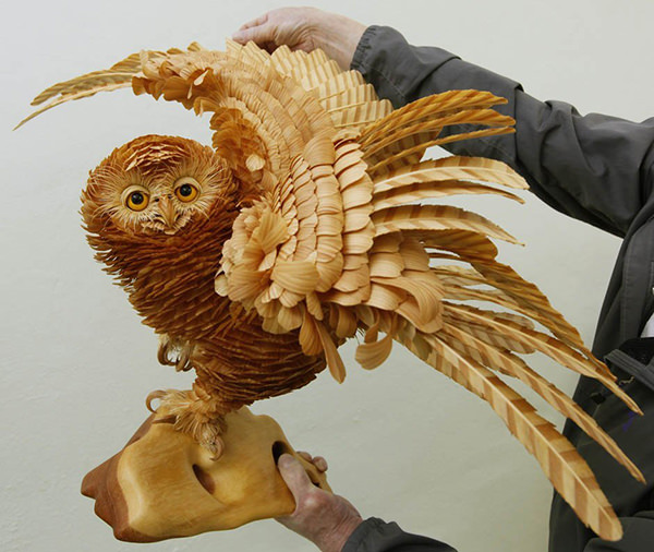 Animal-Sculptures-from-Wood-Chips ??? ?????? ?????? ?????????