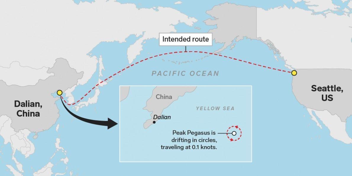 a99129_pegasus_ship_route_x974 АНУ-ын ачааны хөлөг худалдааны дайны эхний хохирогч болжээ