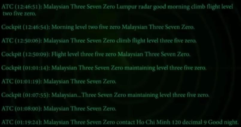 8 Учир битүүлэг дуут мессэж Малайзын сураггүй болсон онгоцтой холбоотой юу?