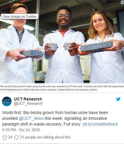barilga-1 Хүний шээсээр үйлдвэрлэсэн дэлхийн анхны био тоосго ирээдүйтэй барилгын материалд тооцогдов