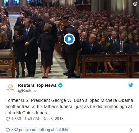"""04-1 Трамп Хиллариг алгасаж, """"бага"""" Буш Мишель Обамад чихэр дамжуулсан нь"""