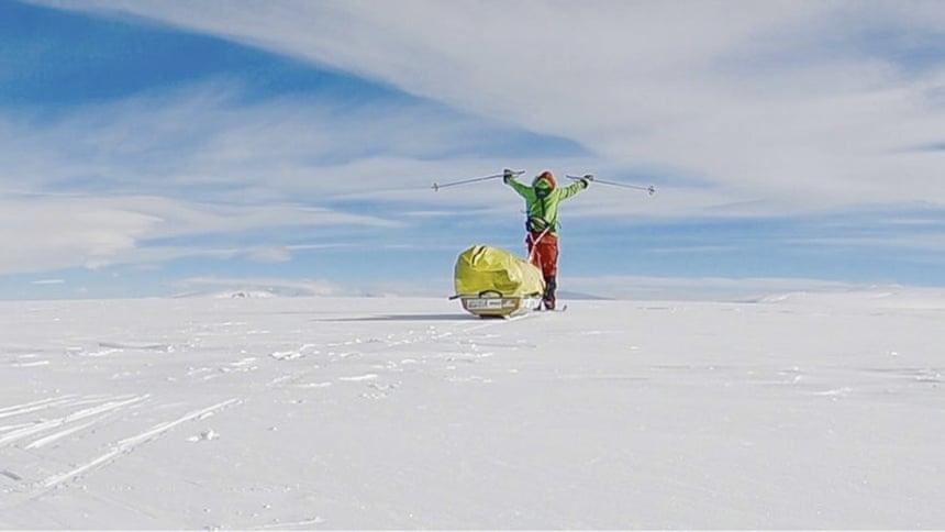 3-17 Антарктидыг цанаар ганцаараа туулсан анхны хүн