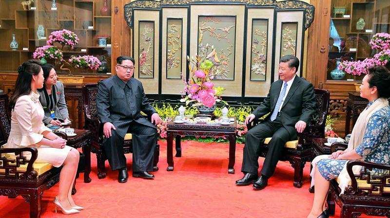 02 Ши Жиньпин Ким Жон Уны 35 насны төрсөн өдөрт зориулж хүндэтгэлийн зоог барьжээ
