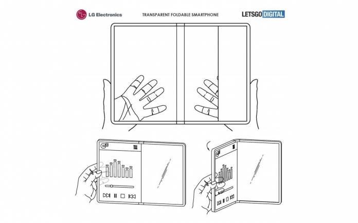 LG-Transparent-Foldable-Smartphone-696x435 LG электроникс нэвт харагддаг дэлгэцийн патентыг худалдан авчээ