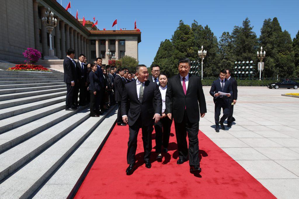 OTGO8872-1024x683 Ерөнхийлөгч Х.Баттулгыг БНХАУ-ын дарга Ши Жиньпин Ардын Их хурлын талбайд угтав
