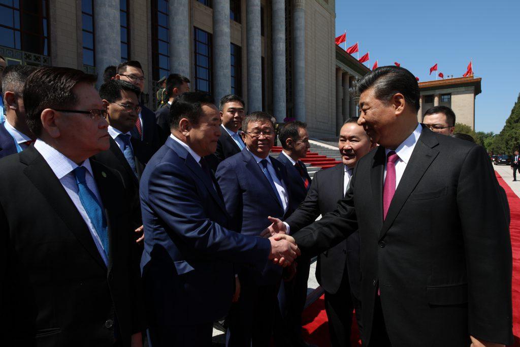 OTGO8892-1024x683 Ерөнхийлөгч Х.Баттулгыг БНХАУ-ын дарга Ши Жиньпин Ардын Их хурлын талбайд угтав