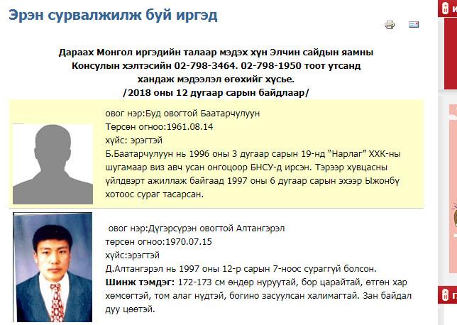 gadaad БНСУ-д Монголын 22 иргэн сураггүй болжээ