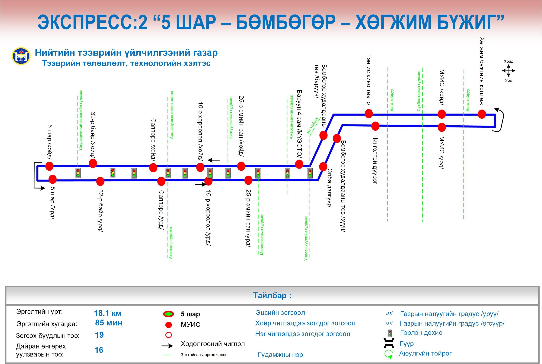 image-1 Экспресс автобус дараах чиглэлд даваа гаригаас эхэлж үйлчилнэ