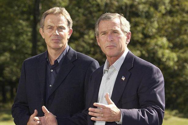 US-President-George-W-Bush-R-and-British-Prime-Minister-Tony-Blair Микрофоны дуулиан