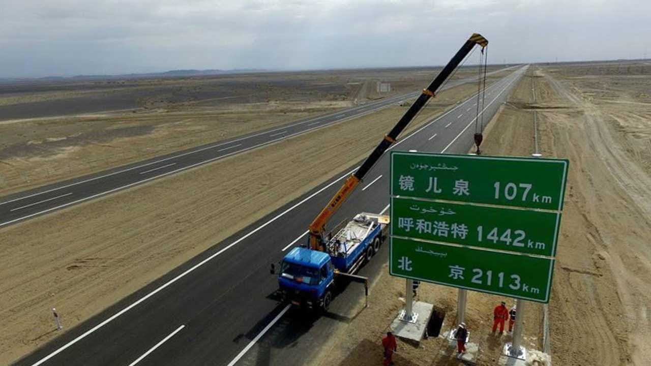 maxresdefault Хятадууд цөлд асфальтан зам тавихын учир...